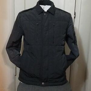 CALVIN KLEIN mens quilted overcoat jacket